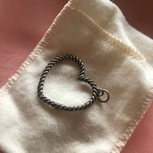 James Avery heart charm holder